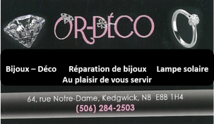 carte affaire or deco
